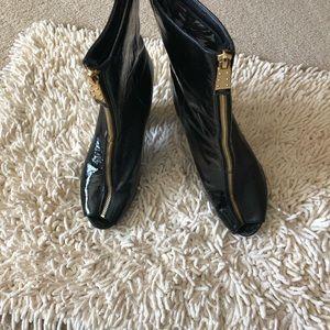 Shoes - Black Paten Boots
